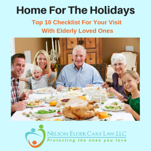 Holiday dinner with elderly parents